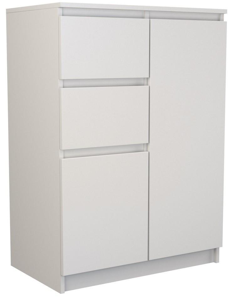 Komoda 2D2S 70 cm bílá