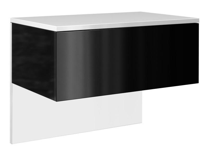 Nočný stolík Lili bielo-čierny