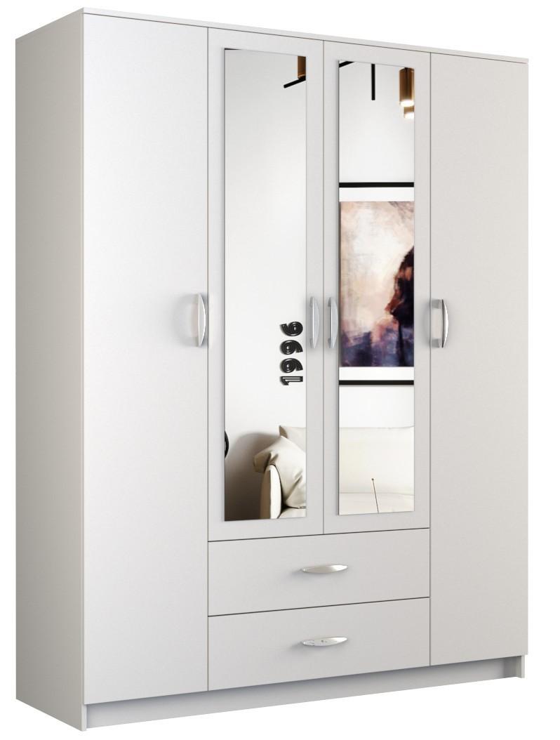 Šatní skříň ROMANA 160cm bílá