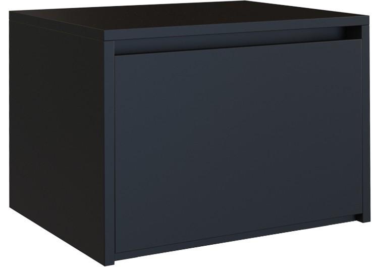 Nočný stolík KARO M1 matný čierny