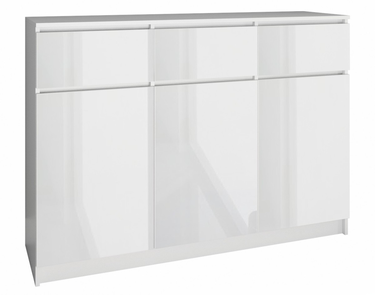 Komoda 3D3S 120 cm biela