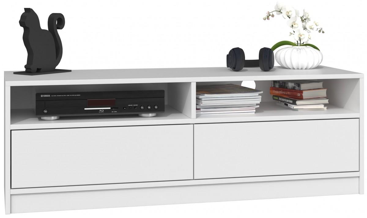 TV stolek KARO- 120 cm- bílý mat