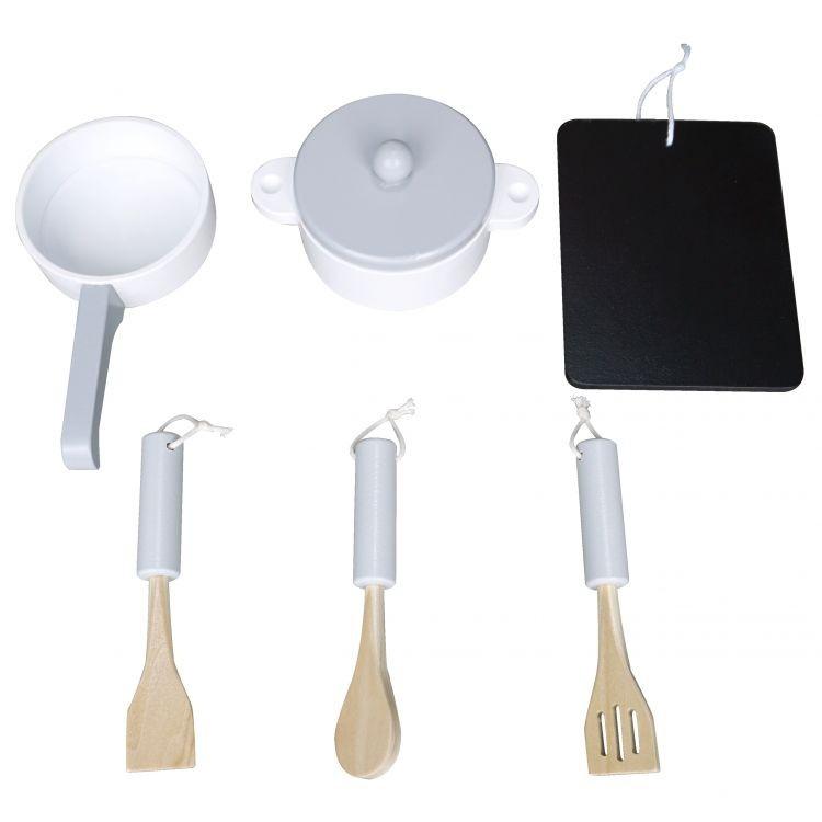 Drevená kuchynská súprava pre deti - 6 kusov