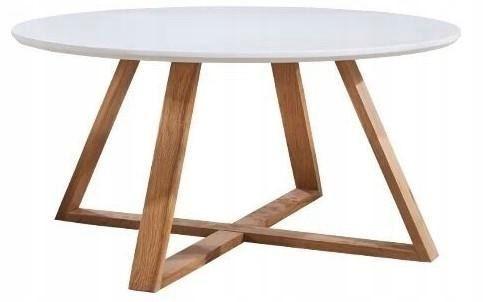 Konferenčný stôl Cartie bielo-hnedý