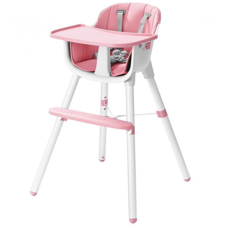 Dětská jídelní židlička EcoToys 2v1 TOPLIP růžová