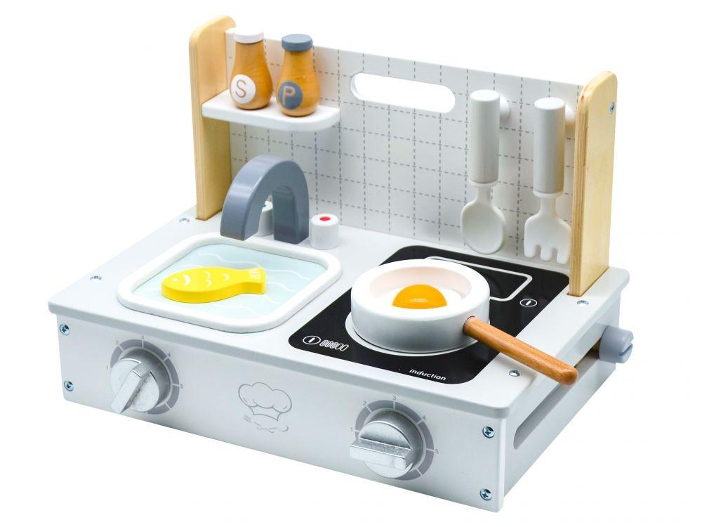 Dřevěná mini kuchyňka pro děti EcoToys Luogo