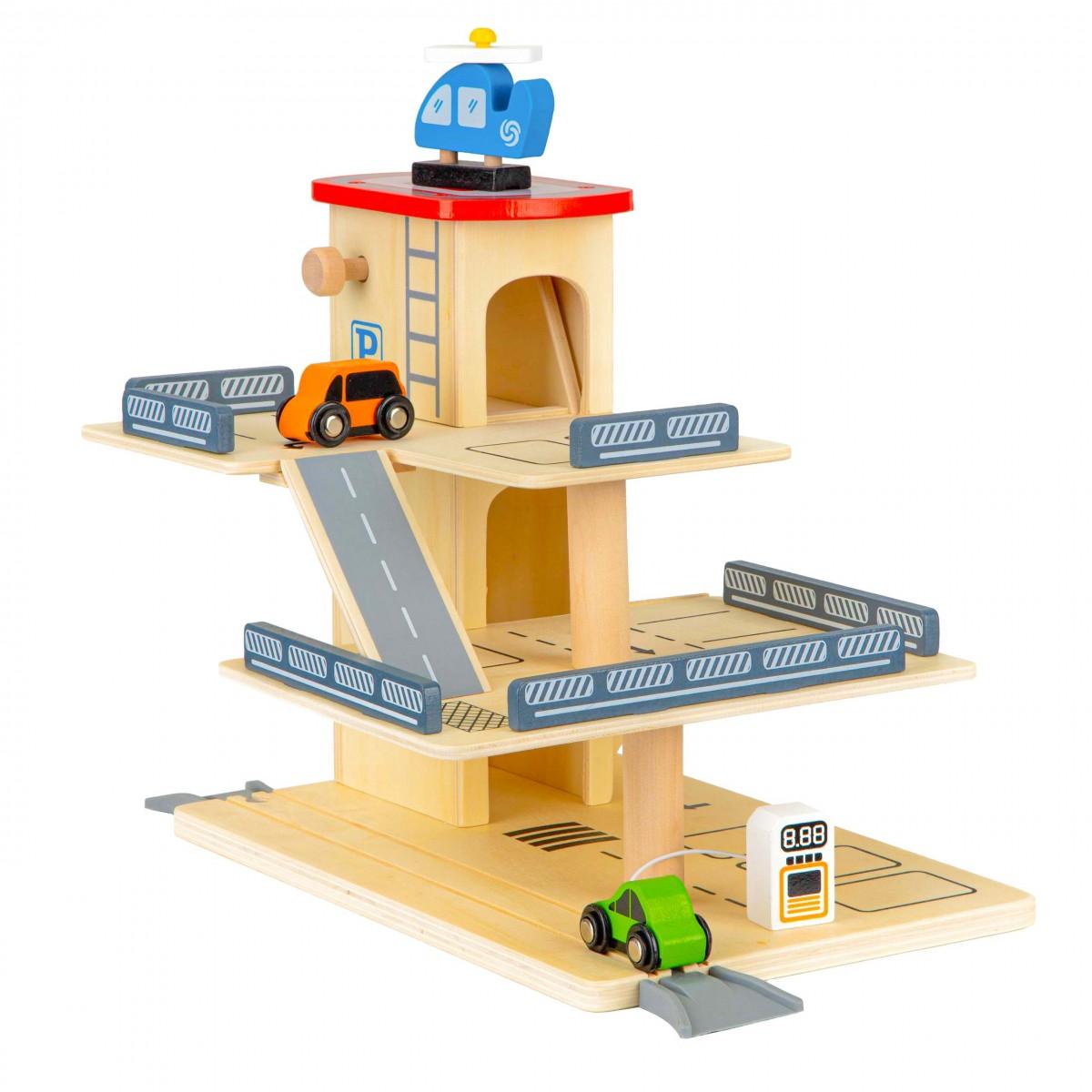 Dřevěná garáž pro auta + autíčka