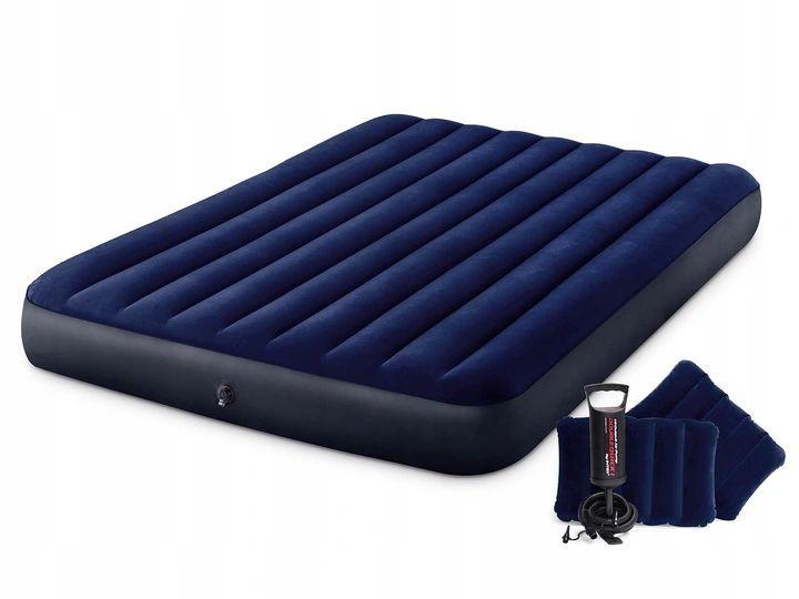 Nafukovací postel INTEX 203x152 cm tmavě modrá