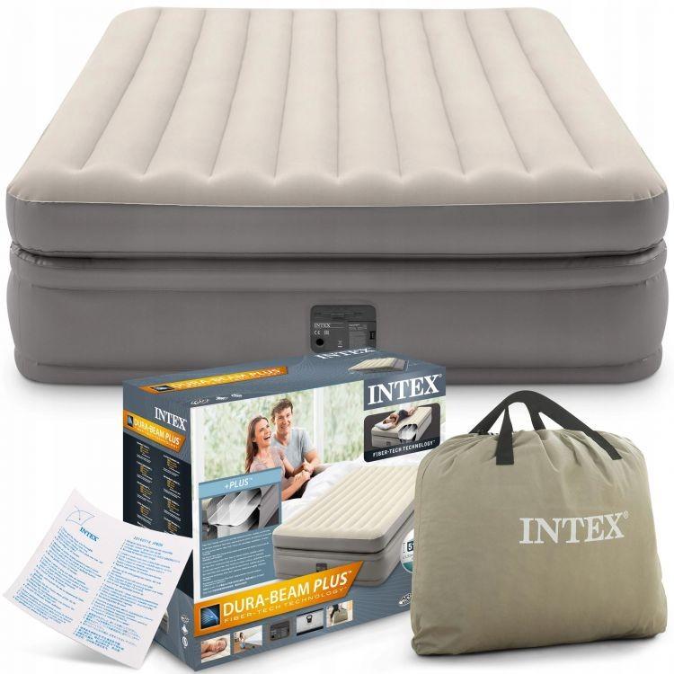 Nafukovací matrace Intex 203 x 152cm krémová + zabudovaná pumpa