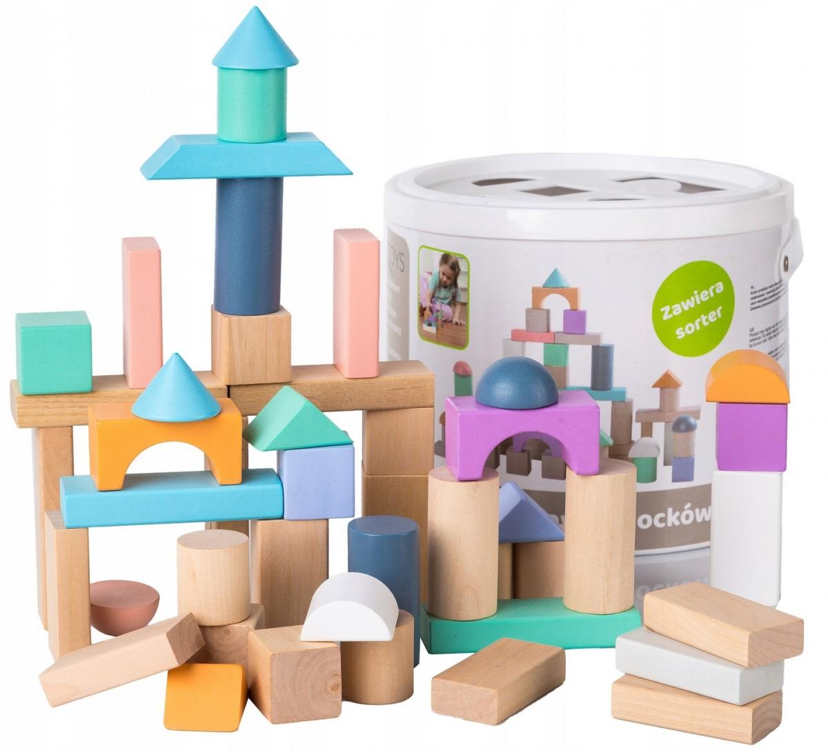 Drevené kocky Eco Toys 50 ks