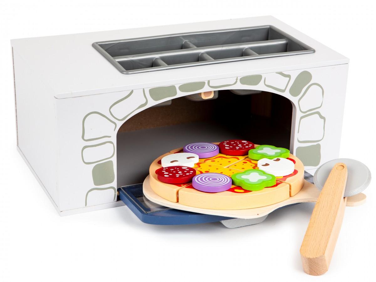 Drevená pec na pizzu EcoToys Margherita s príslušenstvom