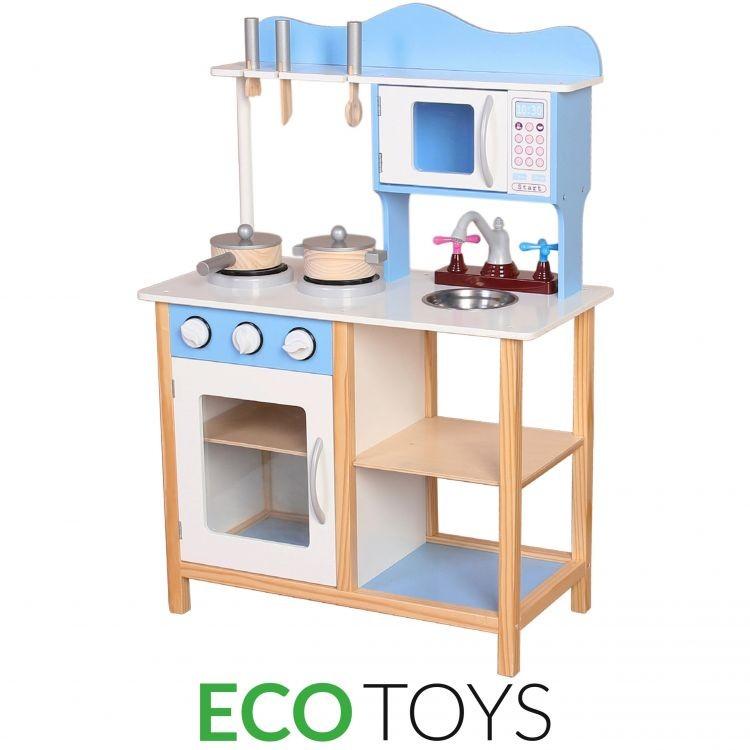 Dřevěná kuchyňka s vybavením Eco Toys