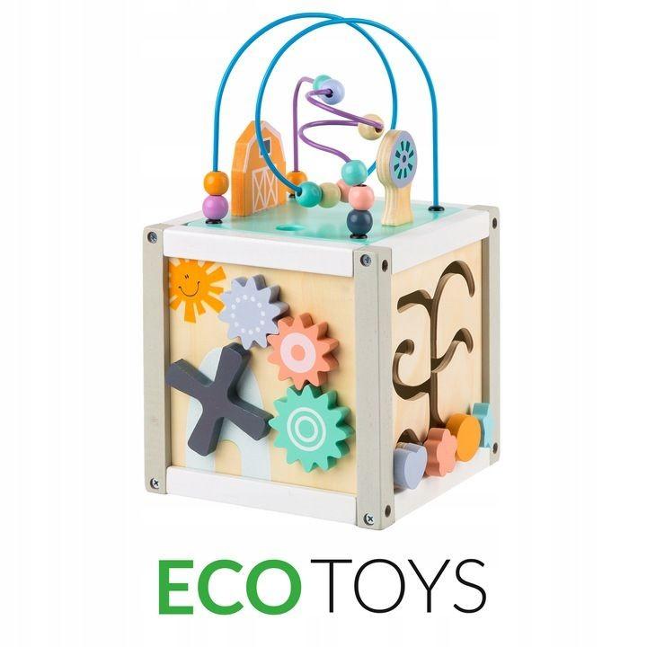 Dřevěná kostka - vkládačka Eco Toys