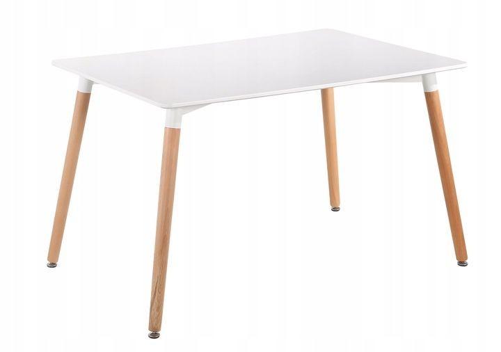 Moderný jedálenský stôl 120 × 80 cm Copper biely