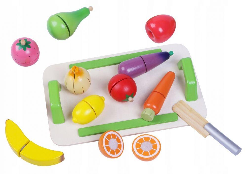 Sada dřevěného ovoce a zeleniny pro děti Eco Toys