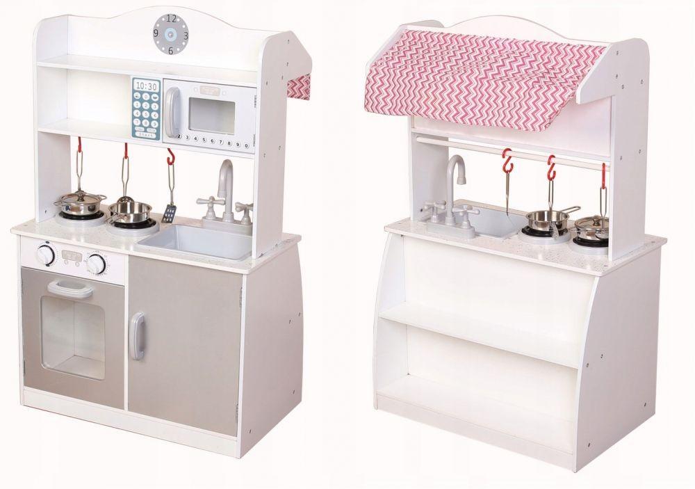 Dřevěná kuchyňská linka a prodejní pult pro děti Eco Toys