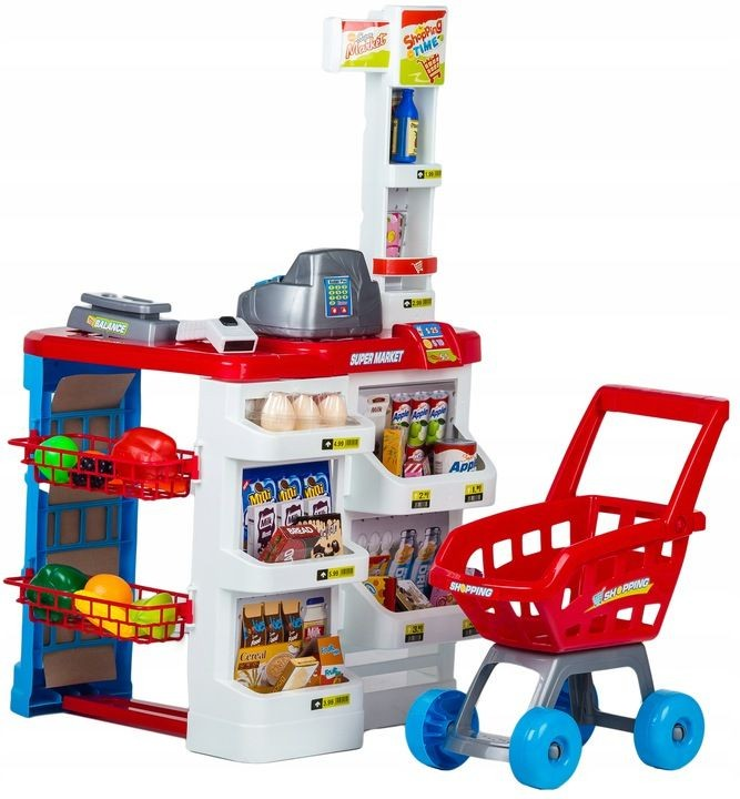 Plastový supermarket pre deti - 24 dielov