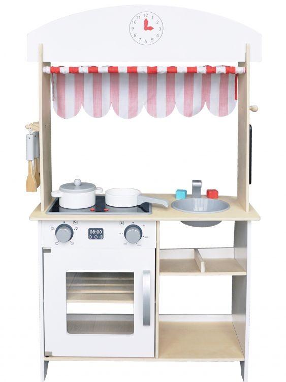 Dřevěná kuchyňka pro děti Krámek s doplňky EcoToys