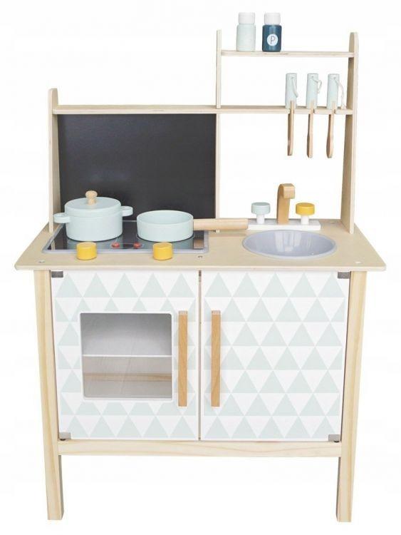 Dřevěná kuchyňka pro děti EcoToys s tabulí