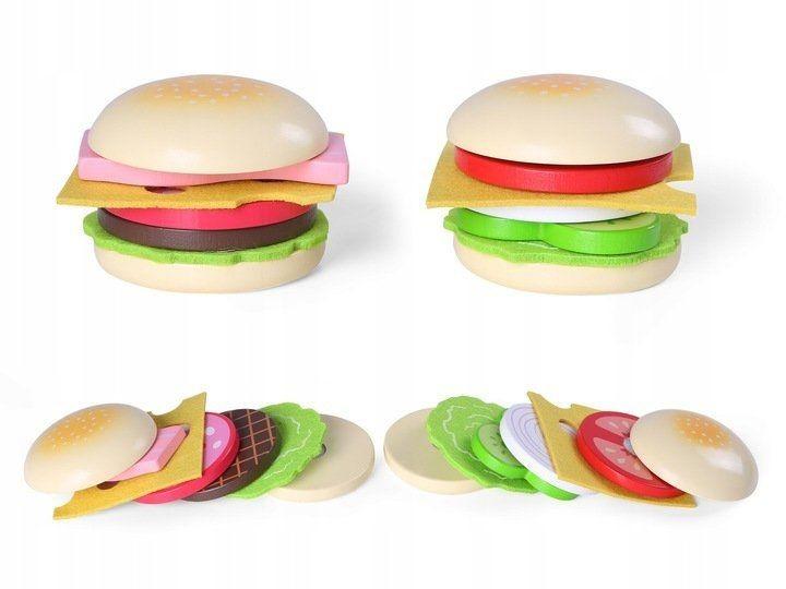 Drevený hamburger pre deti