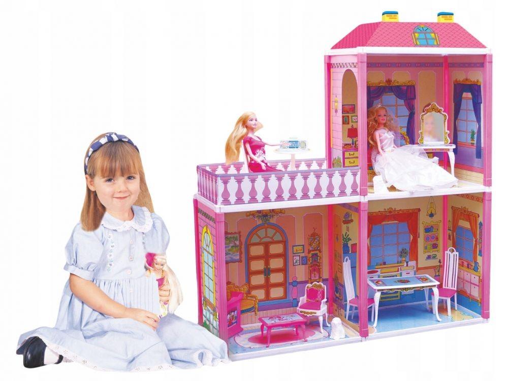 Veľký domček pre bábiky 110 kusov + 2 bábiky