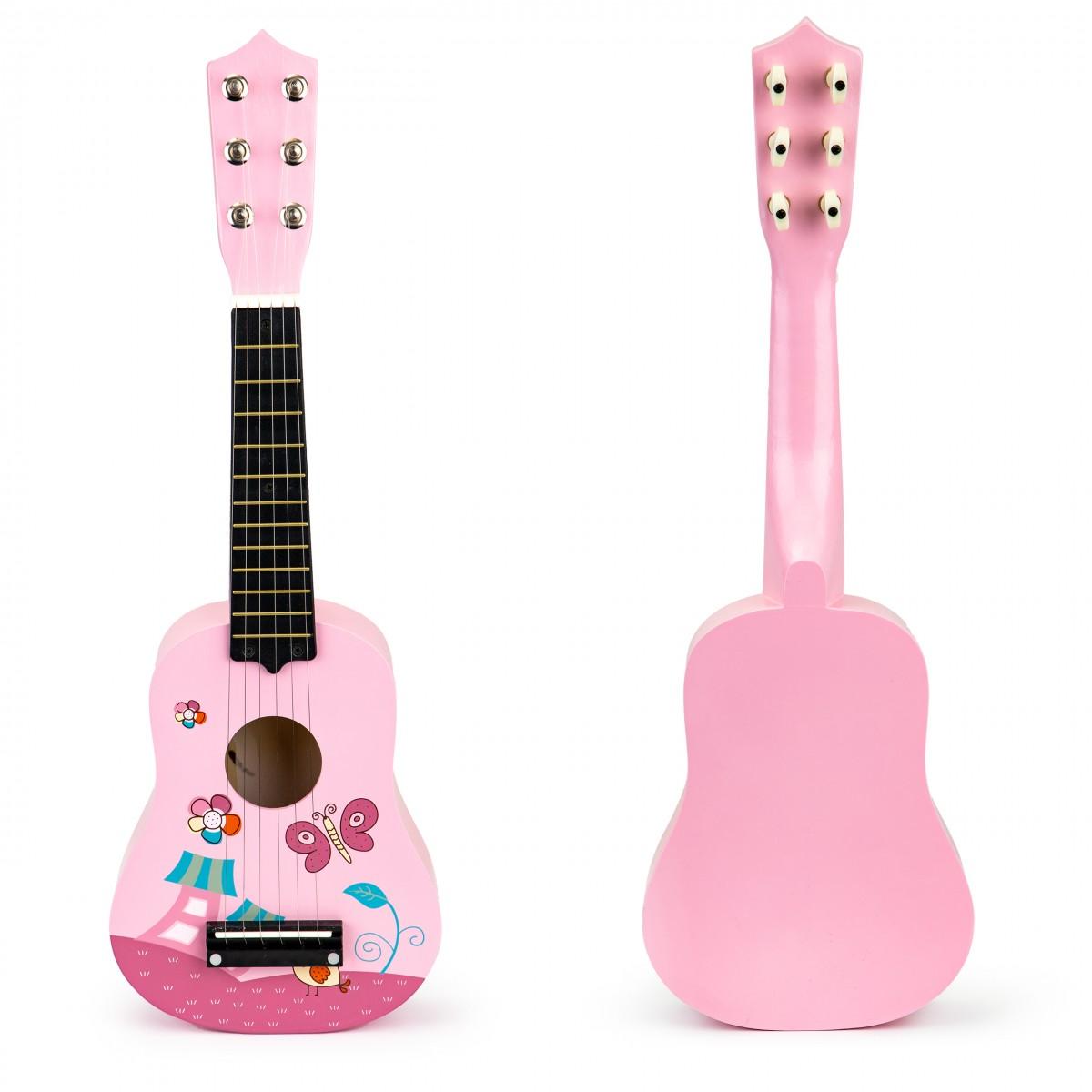 Gitara pre deti ECOTOYS ružová