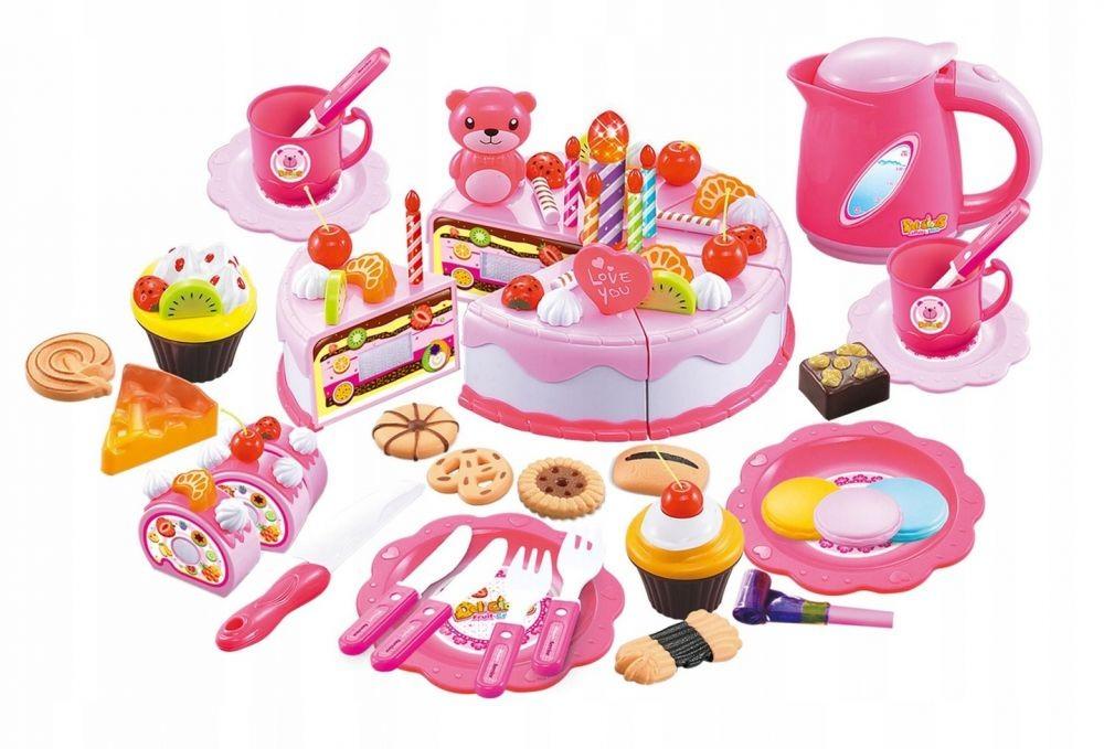 Plastová súprava torta + doplnky 80 kusov