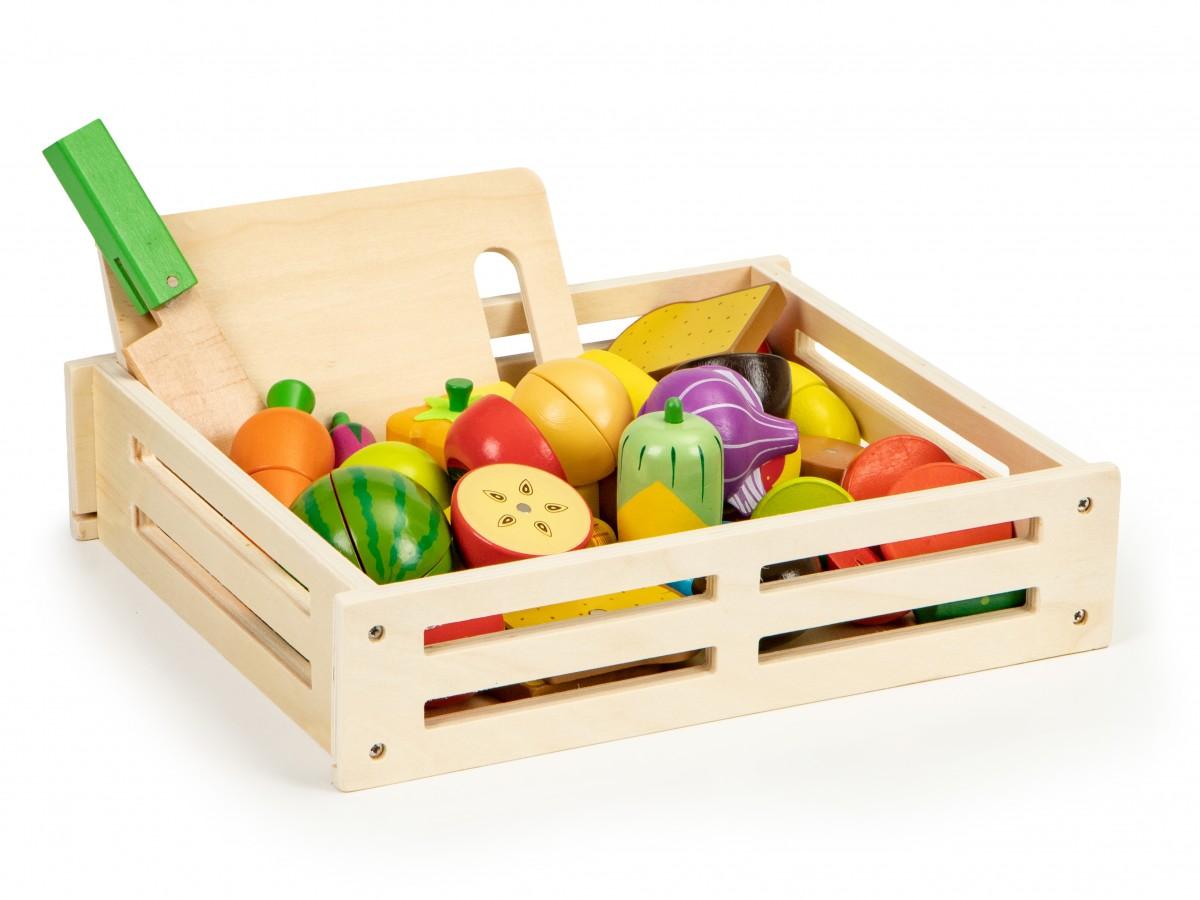 Drevená debnička na ovocie a zeleninu EcoToys