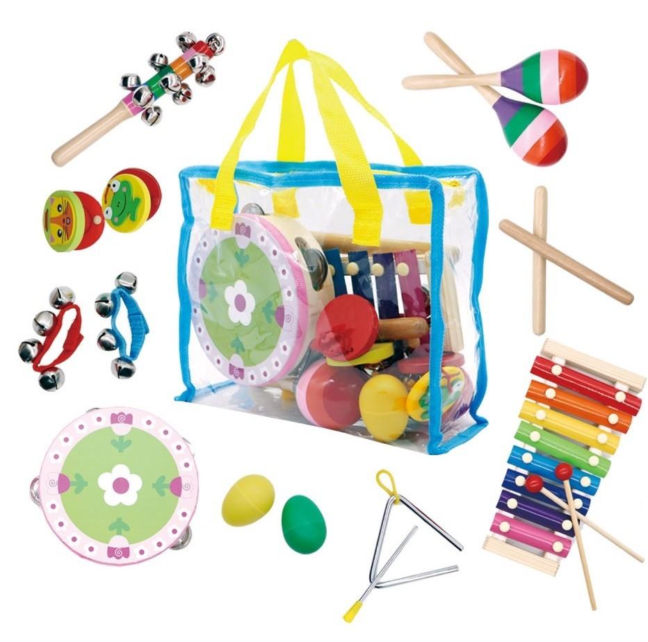 Sada hudebních nástrojů pro děti + taška
