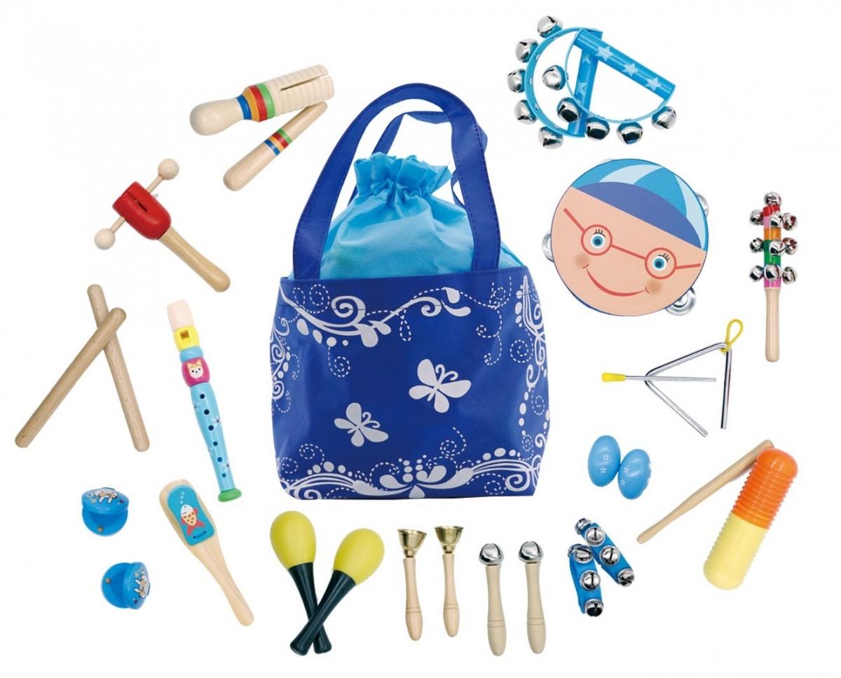 Súprava 16 hudobných nástrojov pre deti + taška Butterfly