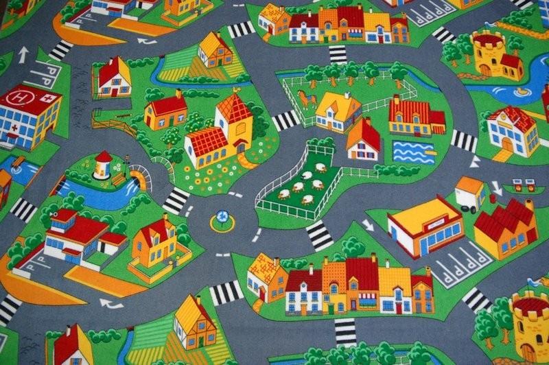Detský koberec ROAD velúrový