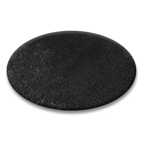 Guľatý koberec SHAGGY HIZA 5 cm čierny