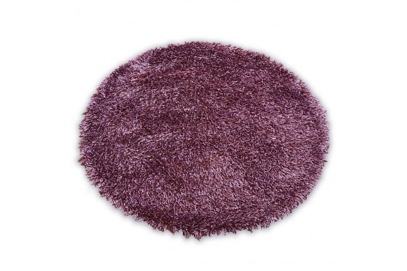Kulatý koberec LOVE SHAGGY fialový