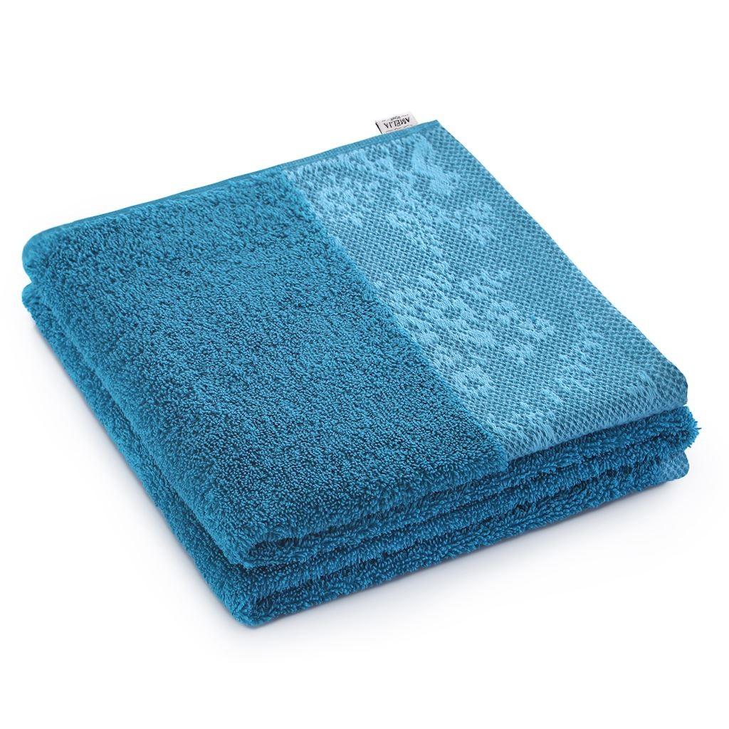 Bavlnený uterák AmeliaHome Crea 50 x 90 cm modrý/morský