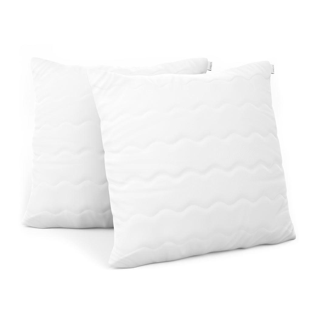 Sada dvou polštářů AmeliaHome Reve 70 x 80 cm bílá