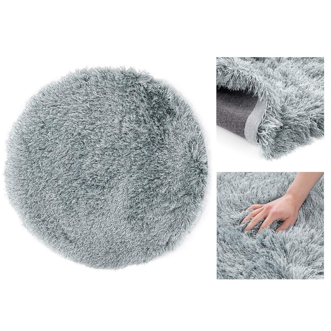 Kulatý koberec Floro šedý