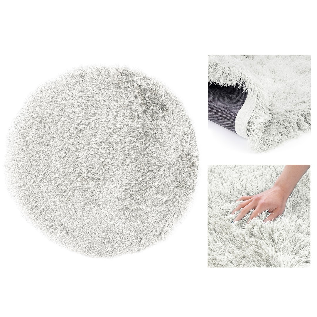 Kulatý koberec Floro krémový