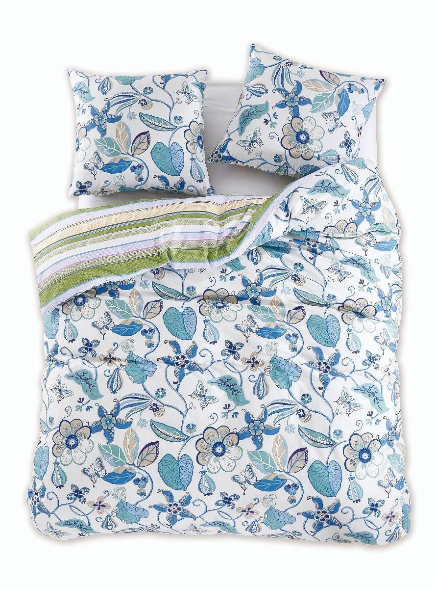 Bavlnené obliečky DecoKing Diamond Floral + 2 obliečky na vankúše