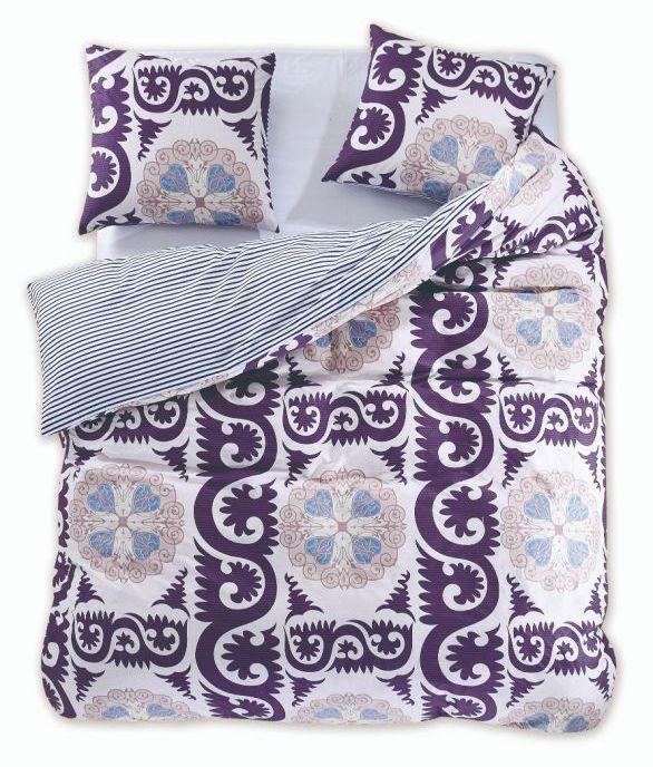 Bavlnené obliečky DecoKing Diamond Walther + 2 obliečky na vankúše