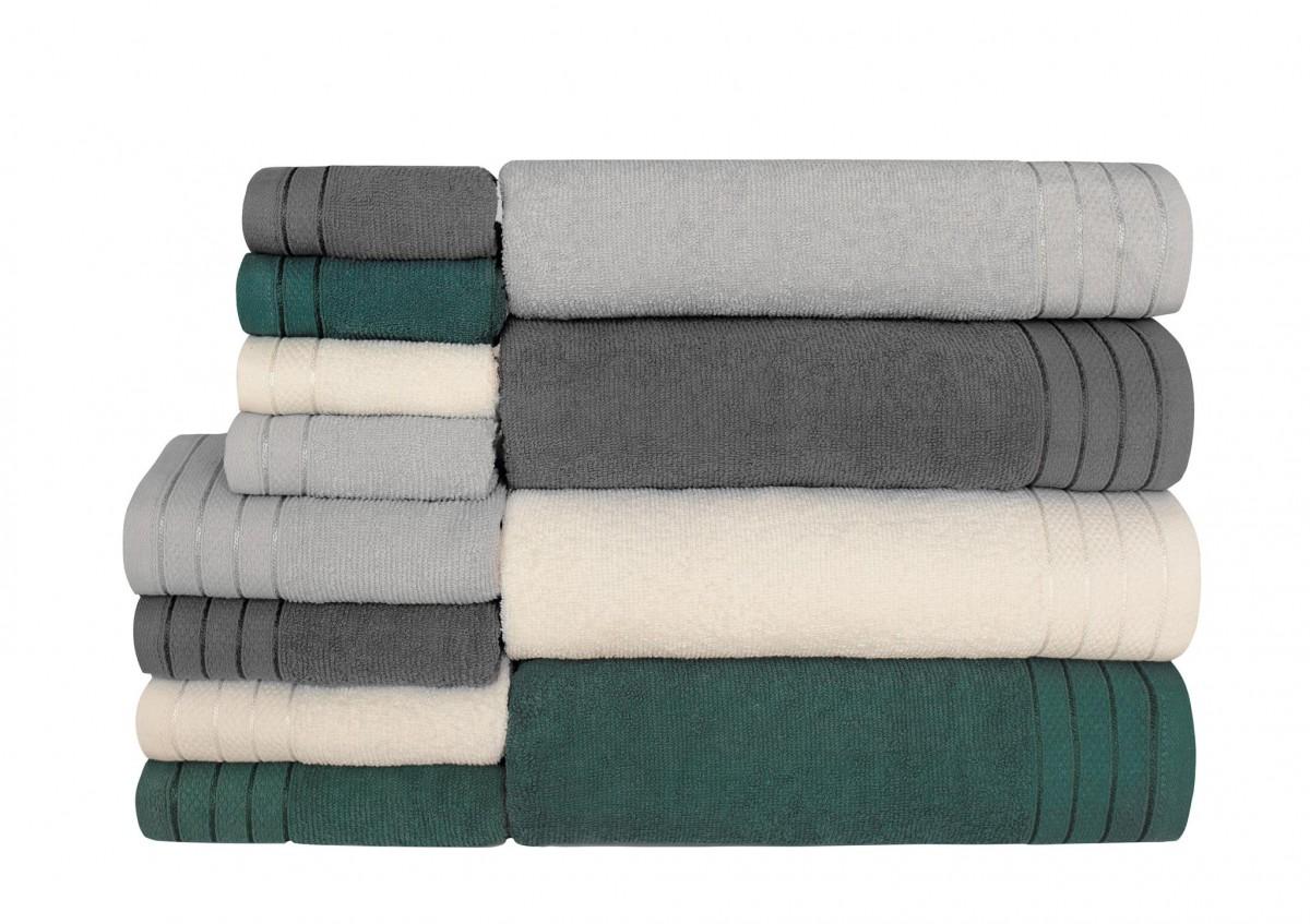 Bavlněný ručník Bella 30x50 cm tmavě šedý