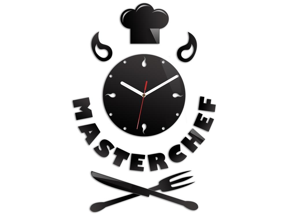 Nástenné hodiny Master Chef čierne