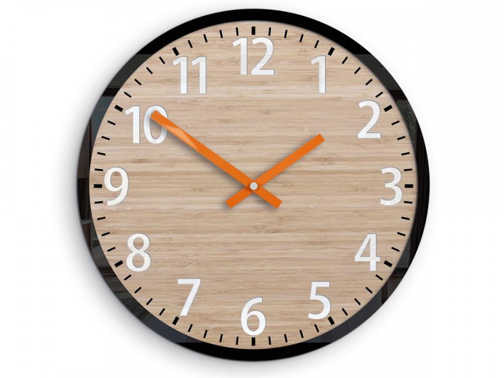 Nástěnné hodiny Karina hnědé