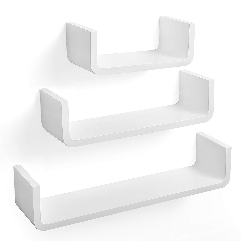 Nástěnné poličky Essk bílé - 3 kusy