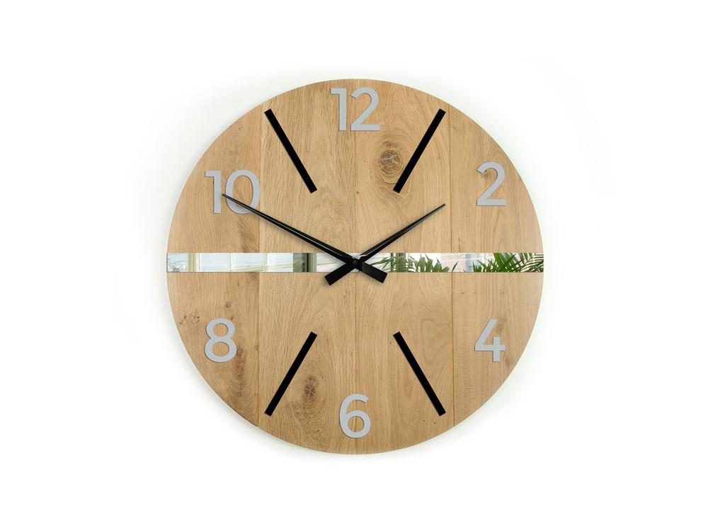 Nástěnné hodiny Akselo hnědé