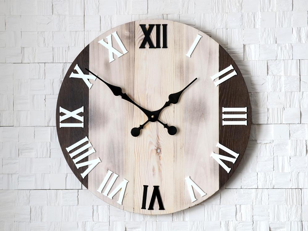 Nástěnné hodiny Old Oak hnědé