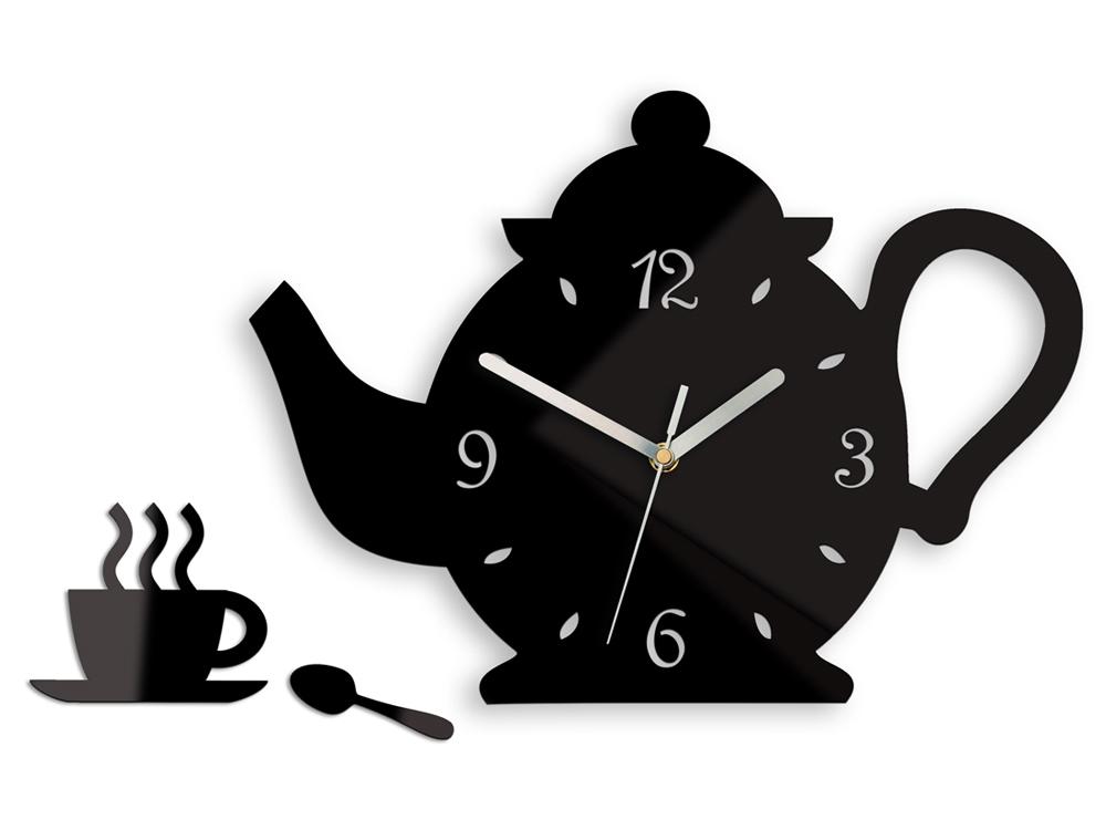 Nástenné hodiny Kettle čierne