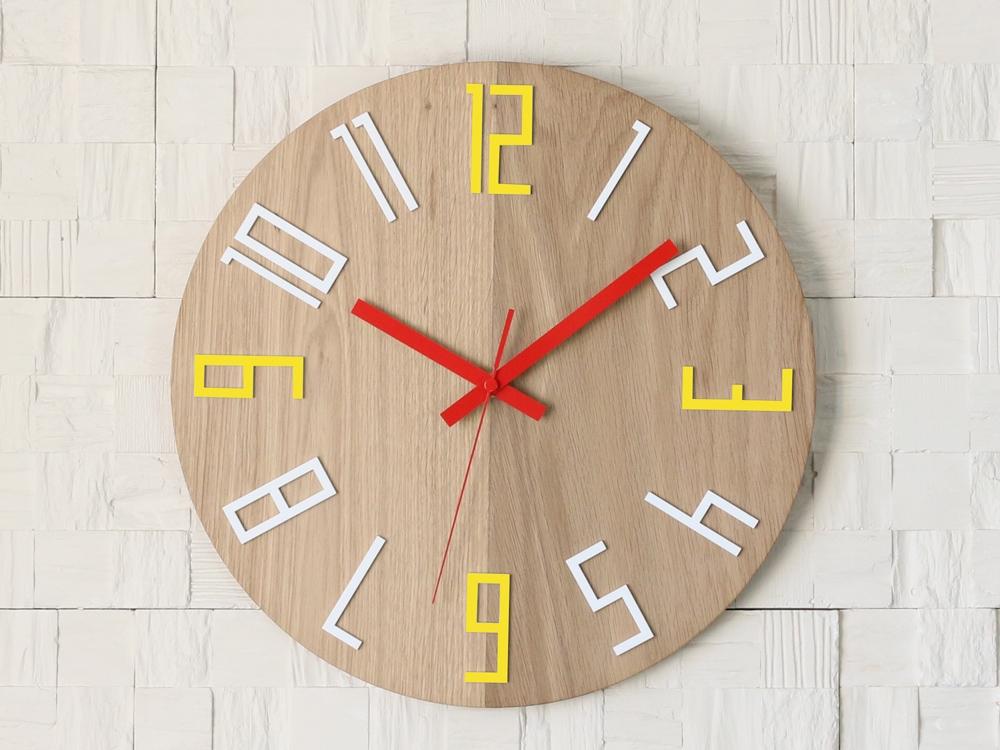 Nástěnné hodiny Color hnědé