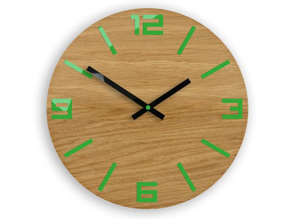 Nástěnné hodiny Arabic hnědo-zelené