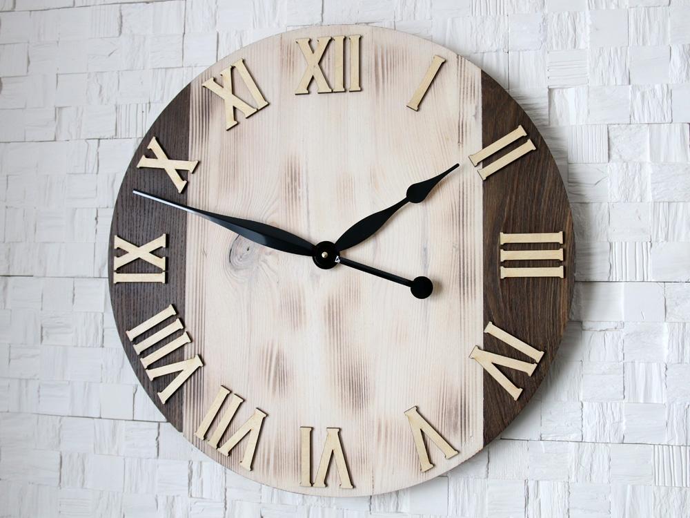 Nástěnné hodiny Light Oak hnědé
