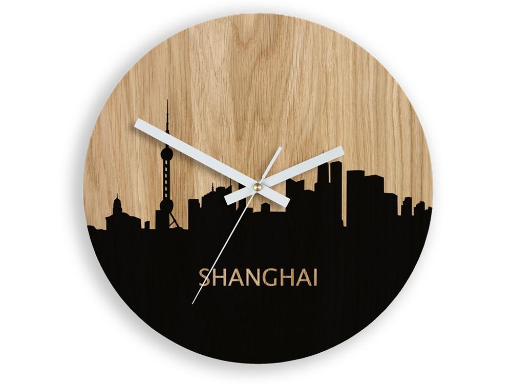 Nástěnné hodiny Shanhgai hnědé